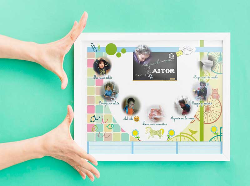 planning fotos personalizable