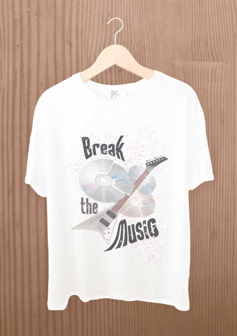 camiseta diseño break the Music
