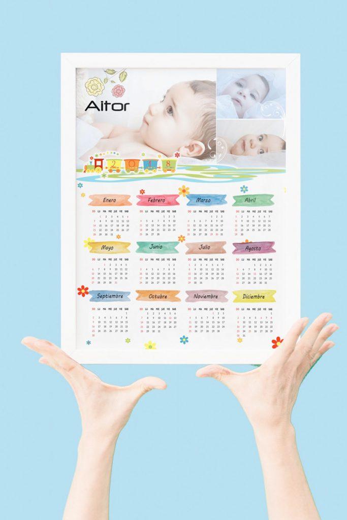 calendario infantil personalizado