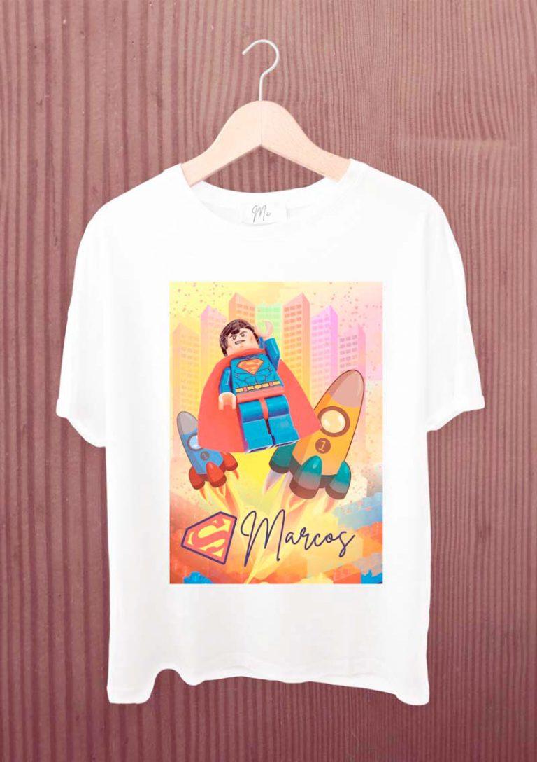 camiseta infantil personalizada lego