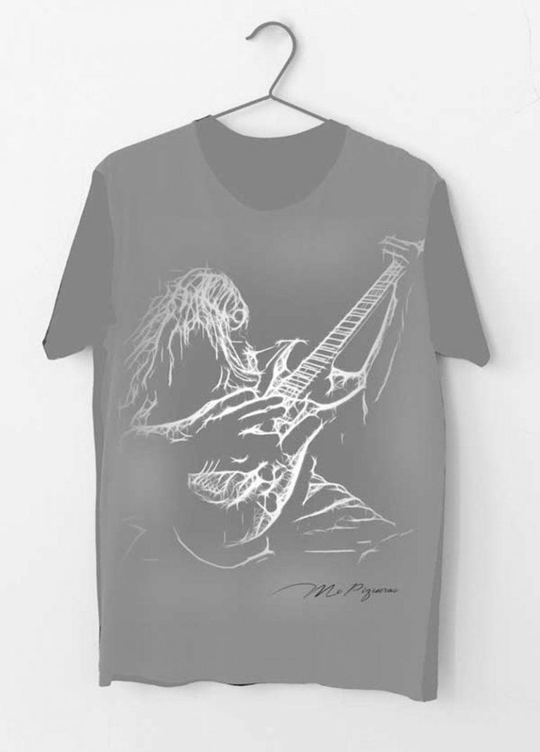 camiseta rock guitarrista