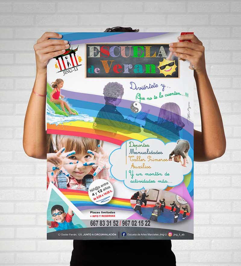 cartel escuela verano jing-li