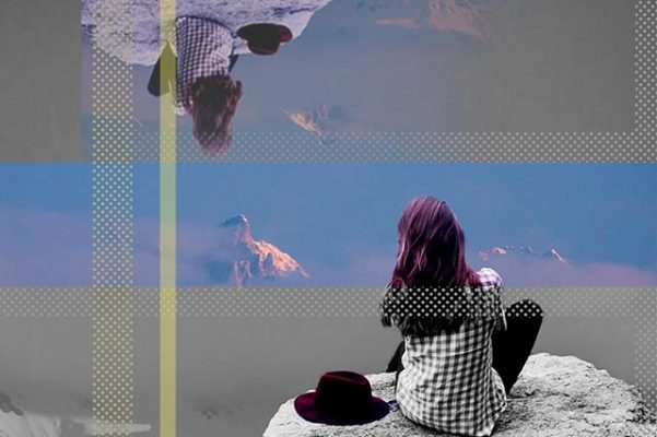 Mujer en montaña