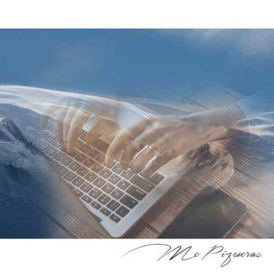 diseño manos en teclado