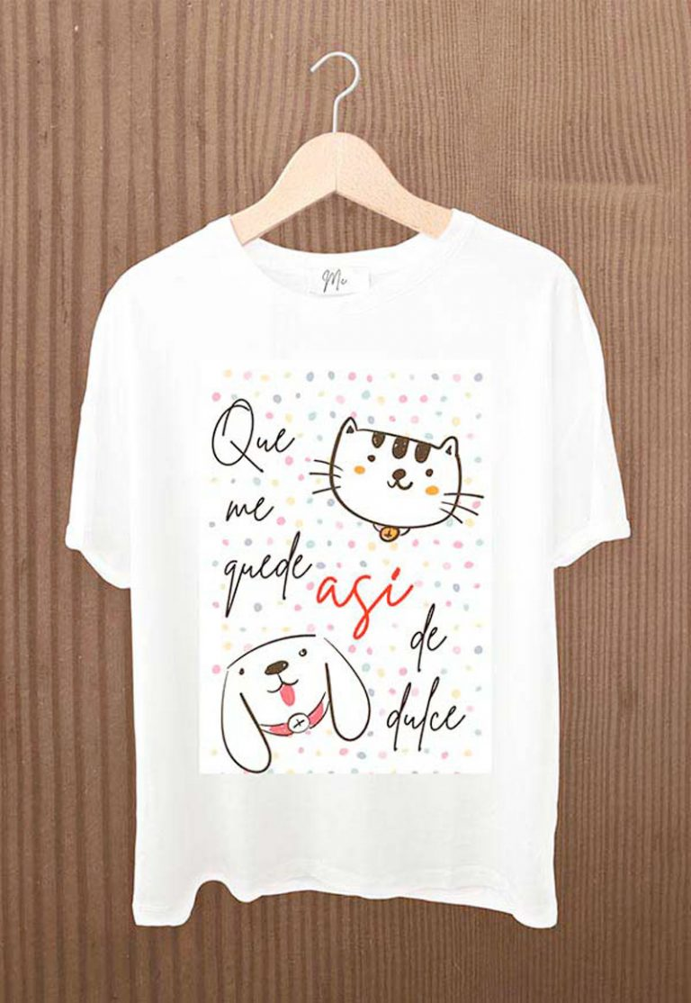 camiseta que me quede asi de dulce