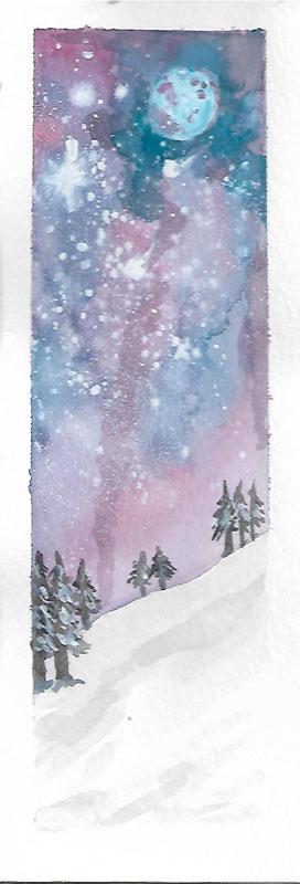 Marcapáginas paisaje nevado