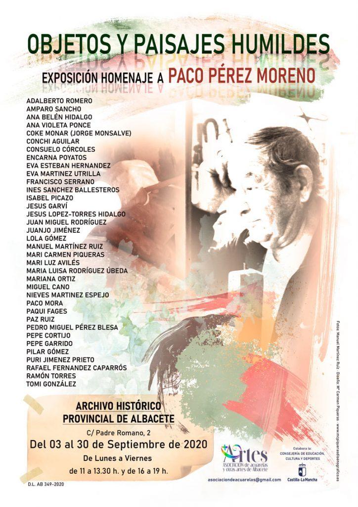 Cartel exposición Homenaje a Paco Pérez
