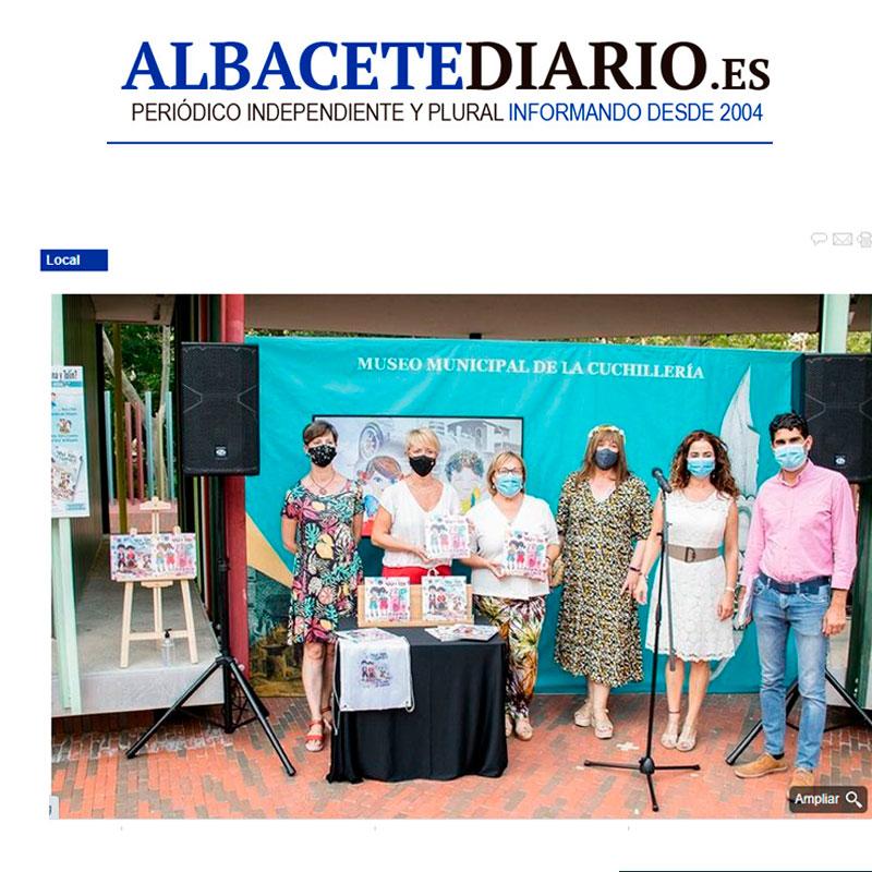 Publicacion Albacete diario Nina y Tolín