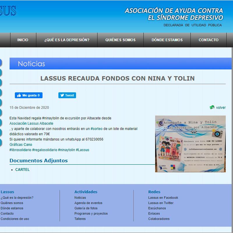 Noticias Asociación Lassus con Nina y Tolín