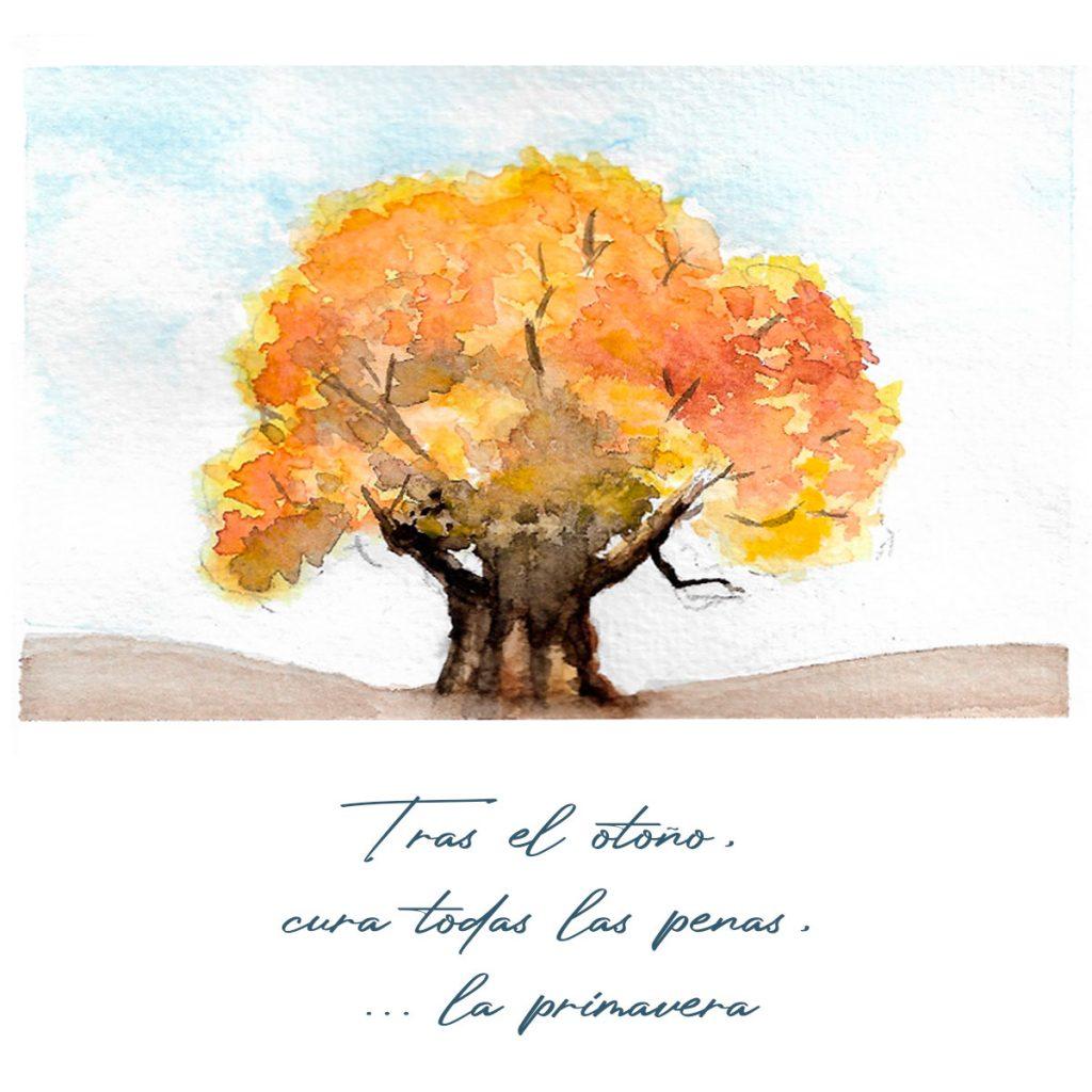 acuarela y haiku