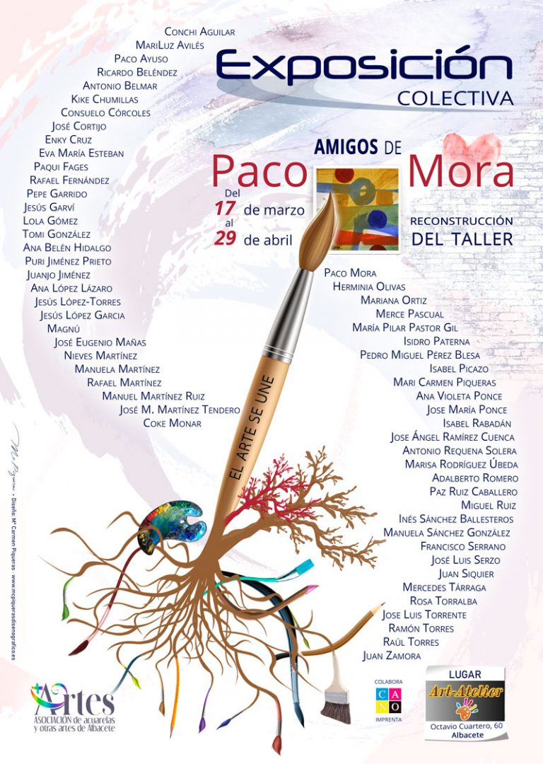 diseño cartel exposición Amigos de Paco Mora