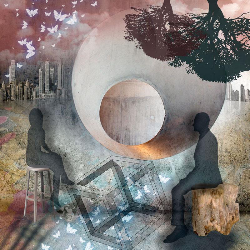 """collage digital con el título """"Arrebol"""""""