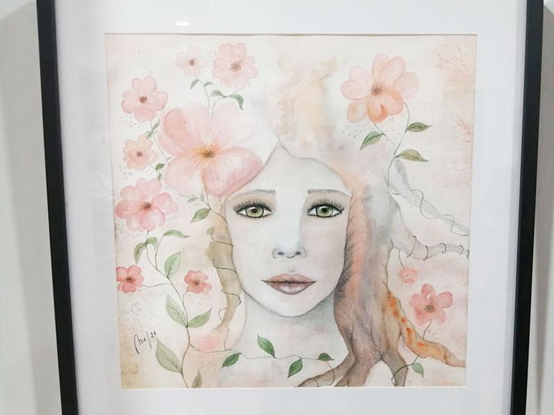 """Obra """"Florecer"""",con la que participo en la Exposición."""